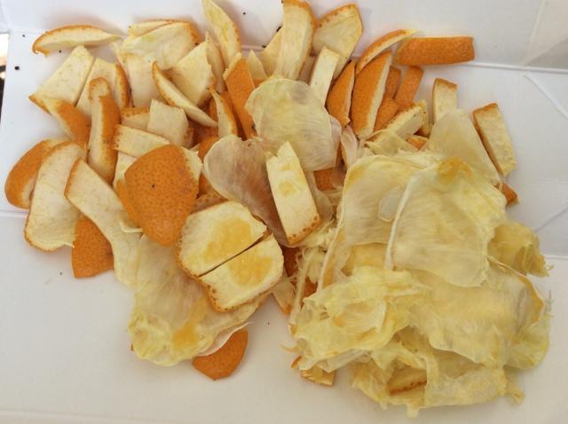 オレンジの皮を堆肥に